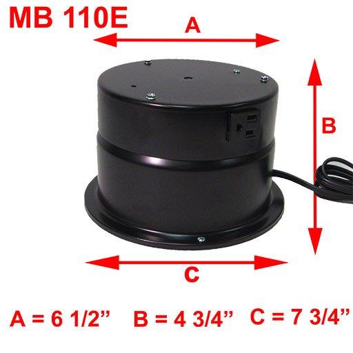 MB 110E DIMENSIONS